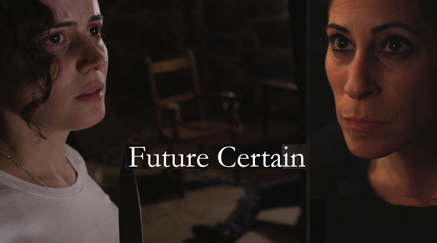 Mariessa Portelance and Kristina Haddad in the new web series Future Certain