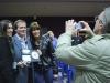 Carmela Ramaglia, Greg Kerr and Karla Mason pose at the DaVinci Film Festival