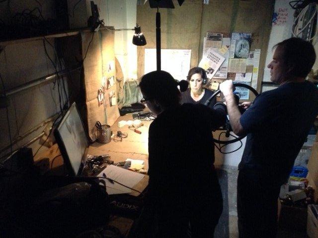 Radha Shoot - checking the monitor