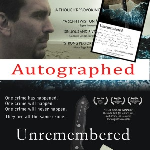 Unremembered DVD head panel for autographed version