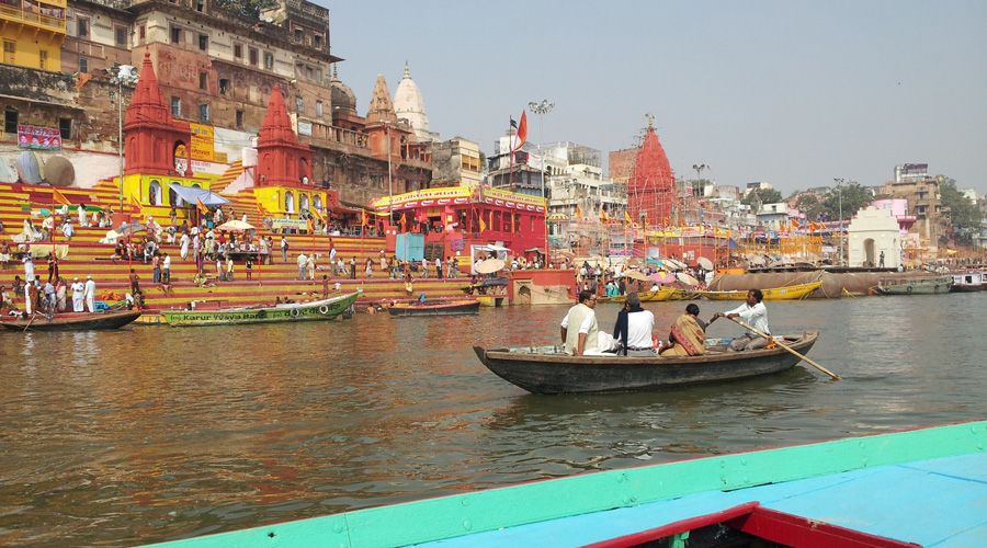 On the Ganges River in Varanasi India
