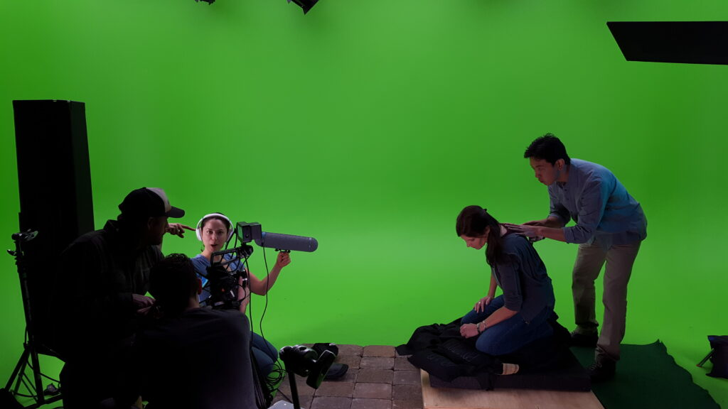 One of FBFP's green screen shoots for the Exceptionals series concept trailer.